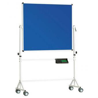 Fahrbare Drehtafel Stahlemaille, blau - B x H: 120 x 100 cm