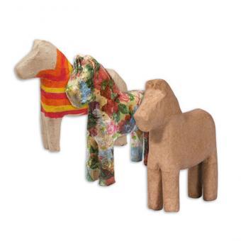 Pappmaché-Pferde