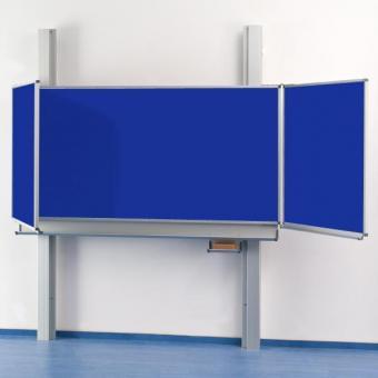 Pylonen-Klapp-Schiebetafel blaue Stahlemaille