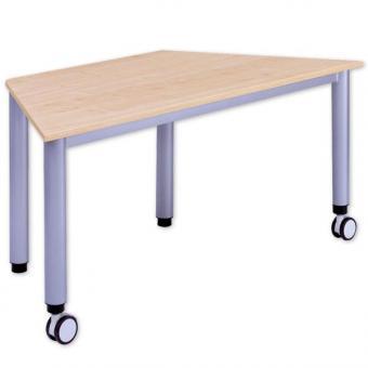 Trapez-Tisch, fahrbar und höhenverstellbar