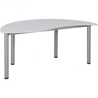 Wellen-Halbrund-Tisch feststehend