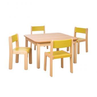 Spar-Set Quadra H Tischhöhe 58 cm / Sitzhöhe 34 cm