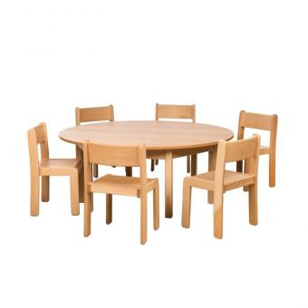 Spar-Set Rond H Tischhöhe 58 cm / Sitzhöhe 34 cm