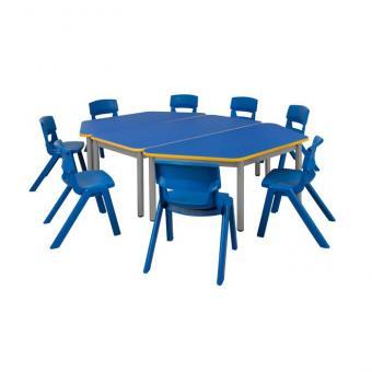 Spar-Set Star Bunt Tischhöhe 52 cm / Sitzhöhe 31 cm