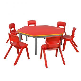 Hexa Bunt Tischhöhe 59 cm / Stuhlhöhe 35 cm