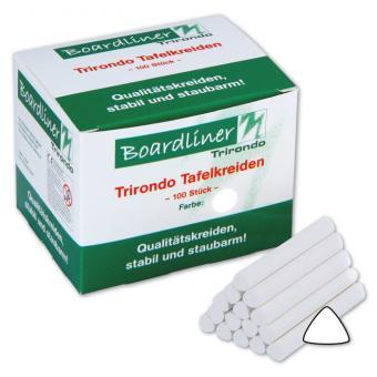 Boardliner-Tafelkreide Trirondo, 100 Stück, dreieckig, weiß