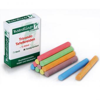 Boardliner-Tafelkreide Trirondo, 12 Stück, dreieckig, bunt