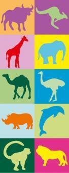 Erkennungsbildchen und Namensschilder - Erkennungsbilder Zootiere - 10 St.