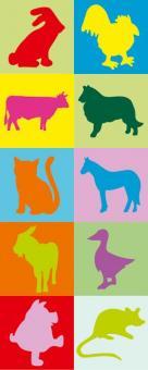 Erkennungsbildchen und Namensschilder - Erkennungsbilder Haustiere - 10 St.
