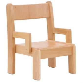 Krippenstuhl mit Armlehne, 2er-Set Sitzhöhe: 18 cm