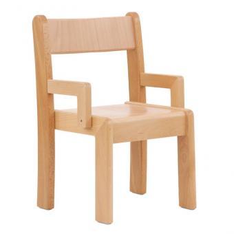 Krippenstuhl mit Armlehne, 2er-Set Sitzhöhe: 26 cm