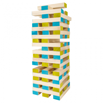 Großer Holzblock-Turm