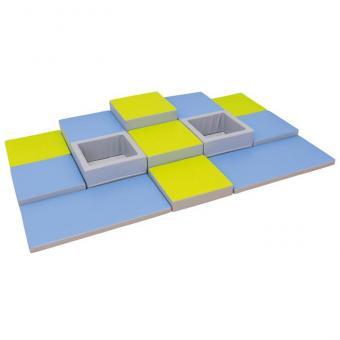 Spielmatten Set 6 Farbe: Blau/Grün