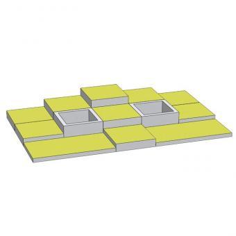 Spielmatten Set 6 Farbe: Grün