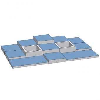 Spielmatten Set 6 Farbe: Blau
