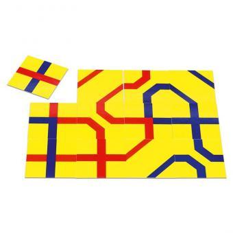 Streckenpuzzle, 240 Karten - quadratisch