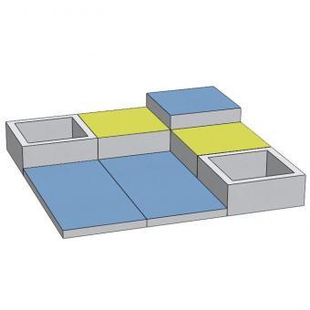Spielmatten Set 7 Farbe: Blau/Grün