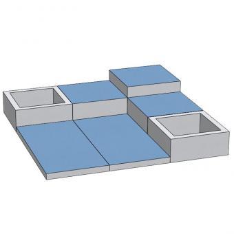 Spielmatten Set 7 Farbe: Blau