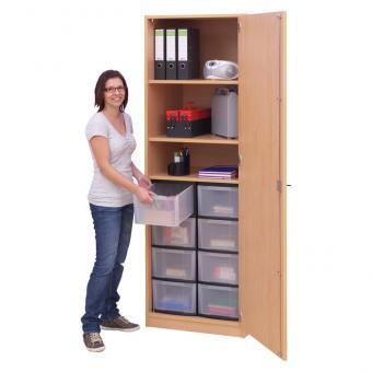 schmaler schrank breite 48 1 cm kleiner materialschrank g nstig online kaufen. Black Bedroom Furniture Sets. Home Design Ideas
