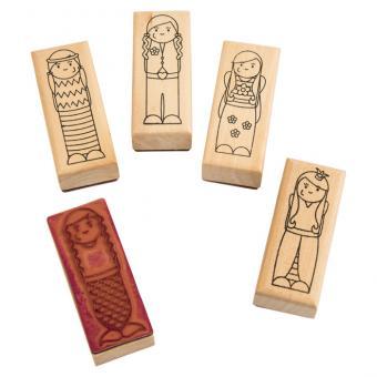 Holzstempel Figuren