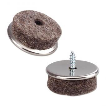 Möbelgleiter aus vernickeltem Eisen