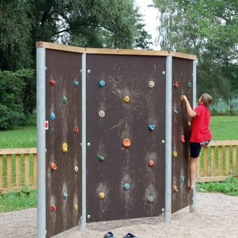 Free-Climbing- Wände Dreifache Wand, Klettergriffe beidseitig