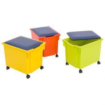 Für Gratnells-Box: Deckel mit blauem Sitzpolster