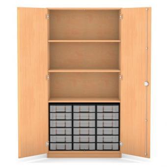Materialschrank - 18 flache Boxen