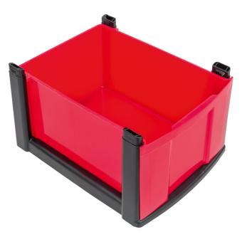 Flexeo Rahmensystem – Hohe Box, einzeln, mit schwarzem Rahmen