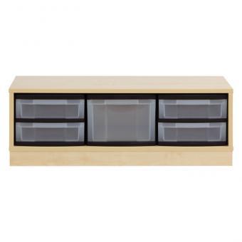 Materialschrank - 4 flache und 1 hohe Box