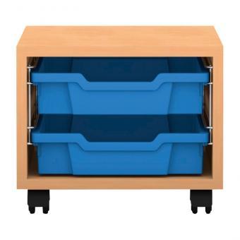 Regale Pro mit Boxen Höhe: 31,9 cm 1-reihig mit 2 flachen Boxen