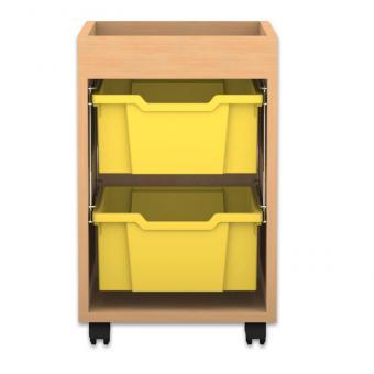 Regale Pro mit Boxen Höhe: 60,8 cm 1-reihig mit 2 hohen Boxen