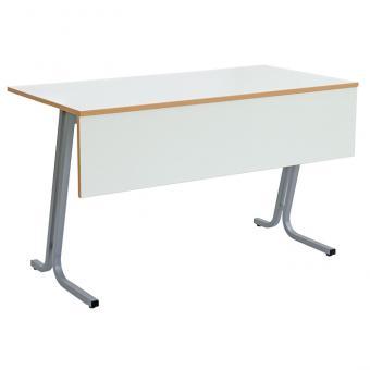 Lehrertisch swing mit Blende und abschließbarem Fach