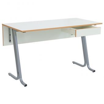 Lehrertisch swing mit Blende und abschließbarer Schublade