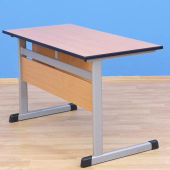 Lehrertisch L-Fuß mit PU-Kante