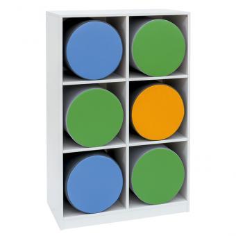 Flexeo® Polsterhockerregale Breite: 94,4 cm