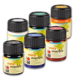 marmorierfarbe marabu easy marble 6er set g nstig. Black Bedroom Furniture Sets. Home Design Ideas