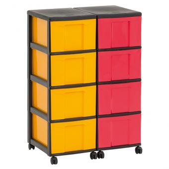 Flexeo® Rollcontainer-System mit 8 hohen Boxen