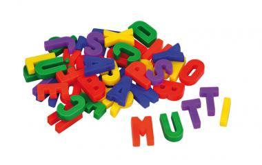 Rechnen und Schreiben auf Magnetflächen Magnetbuchstaben, groß