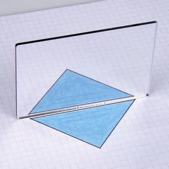 Geometriespiegel, 10 x 7 cm