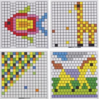 Mosaik-Arbeitskarten zum Legespiel