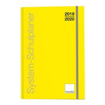 System-Schulplaner A4-Plus, gelb, 2019 / 2020