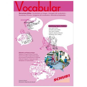 Vocabular Wortschatzbilder-Box: Spielzeug, Sport, Hobbies
