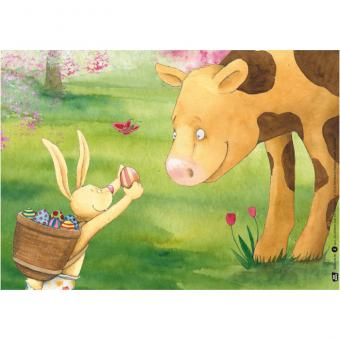 Kamishibai-Bildkarten, Da drüben sitzt ein Osterhas'