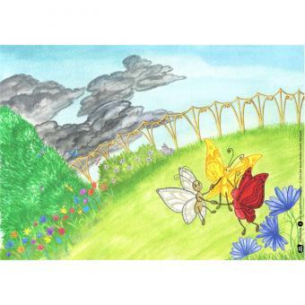 Kamishibai-Bildkarten, Die drei Schmetterlinge