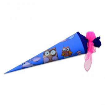Schultüte mit Filzverschluss Blau