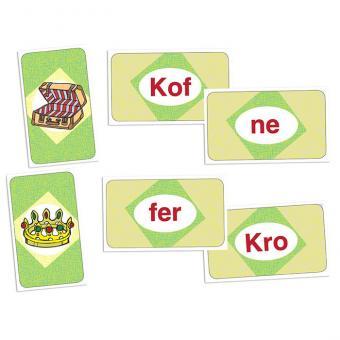 Silbenkönig – Lesespiel mit 2- und 3-silbigen Wörtern