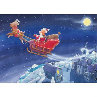 Kamishibai-Bildkarten, Der Nikolaus hat viel zu tun