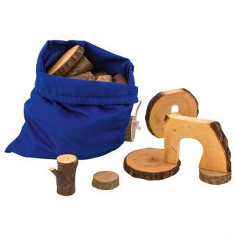 Baumklötze aus Holz