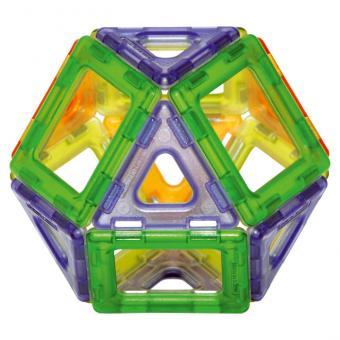 Magnetic Polydron, 64er-Set - transparent